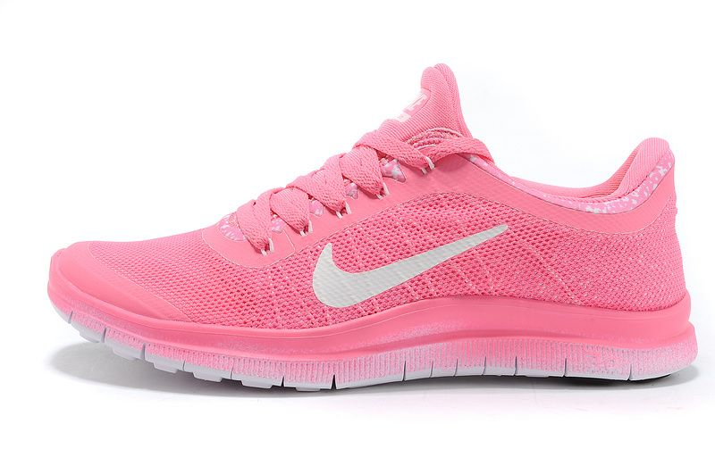 8152d657a7b2  46.69 Womens Nike Free 3.0 V6 Flyknit Pink Think Pink White  Lovely  pink   products cheap nike shoes