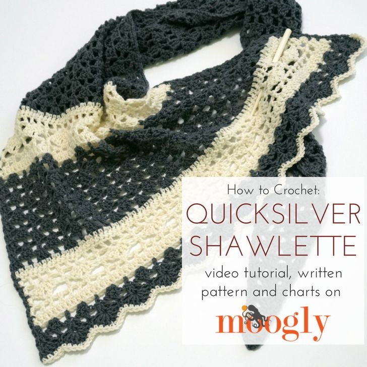 Quicksilver Shawlette Tutorial | шаль | Pinterest | Ganchillo ...