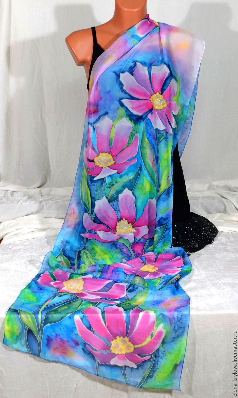 73eab47065f8 Шелковый шарф батик Весенний - купить или заказать в интернет ...