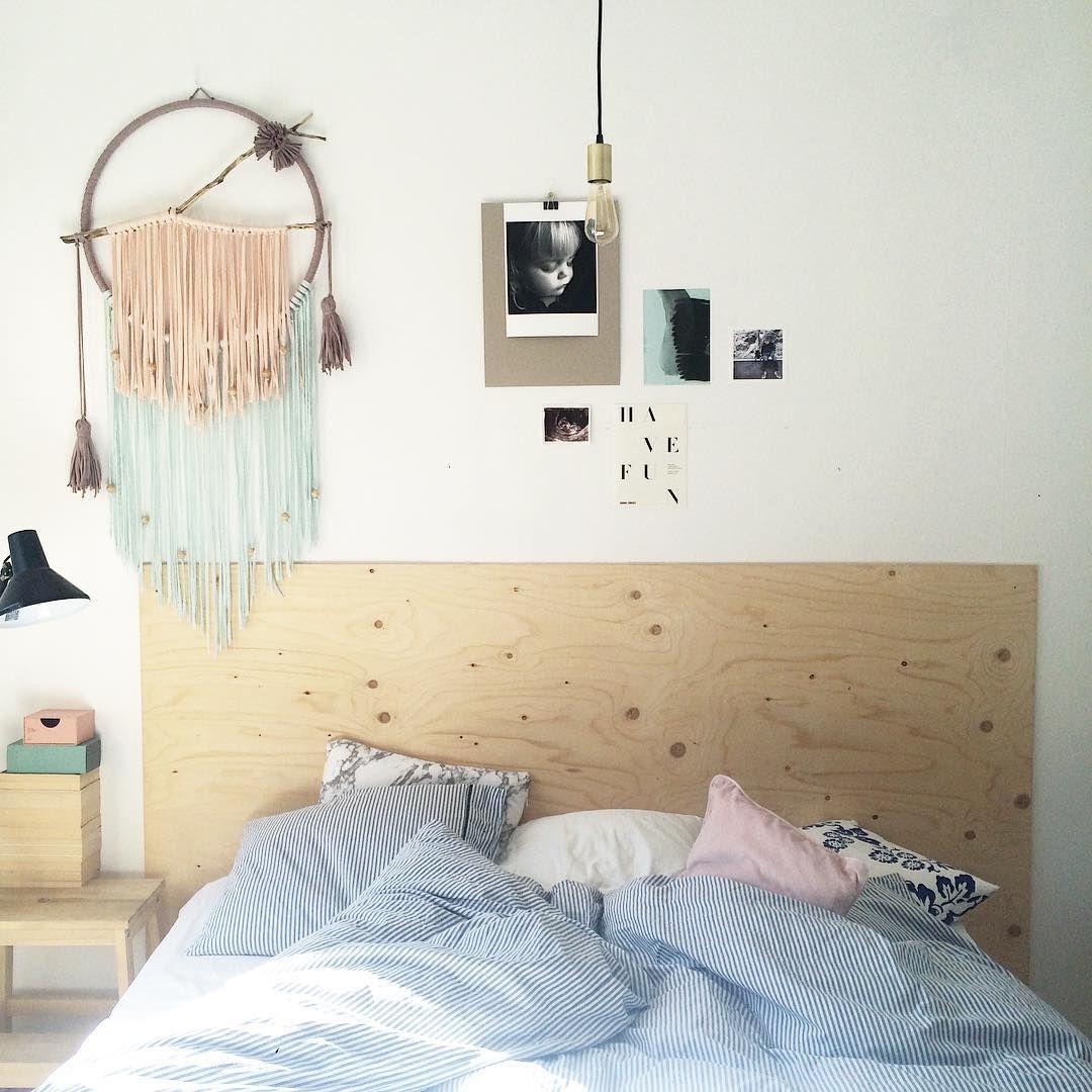 Plywood bedhead