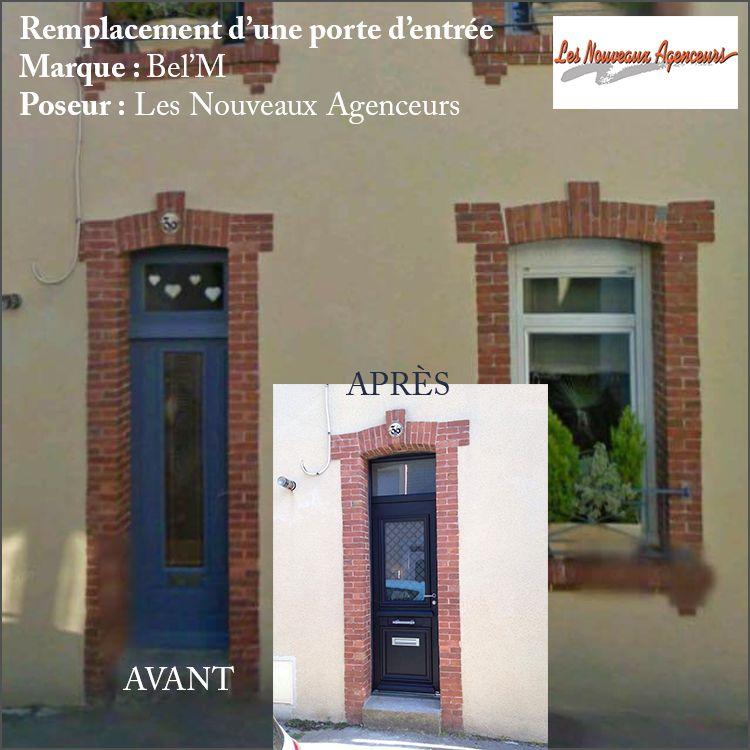 Remplacement du0027une porte du0027entrée dans une maison de ville Marque