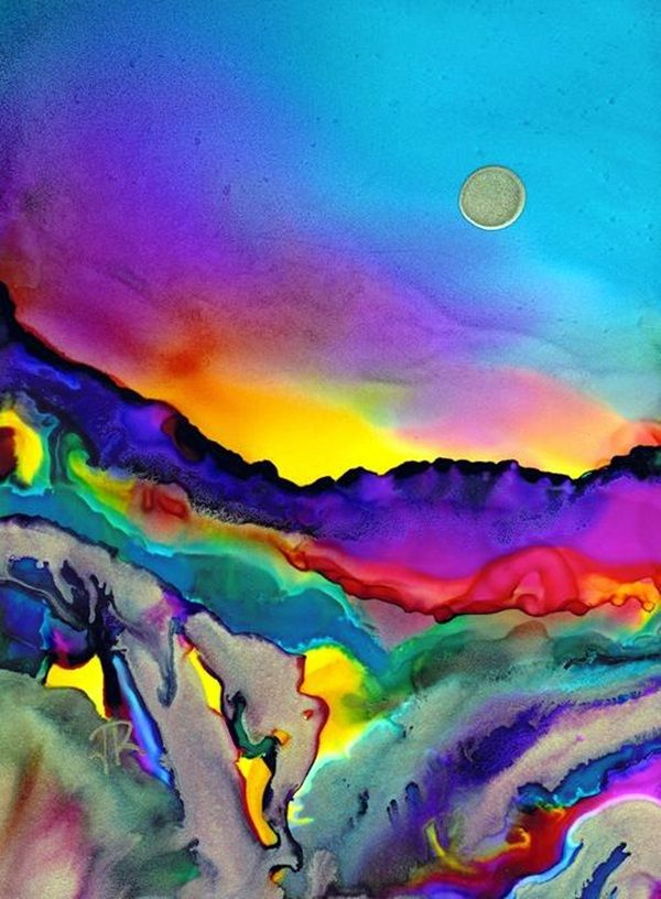 40 Ink Painting Ideas For Inspiration Alcohol Ink Painting