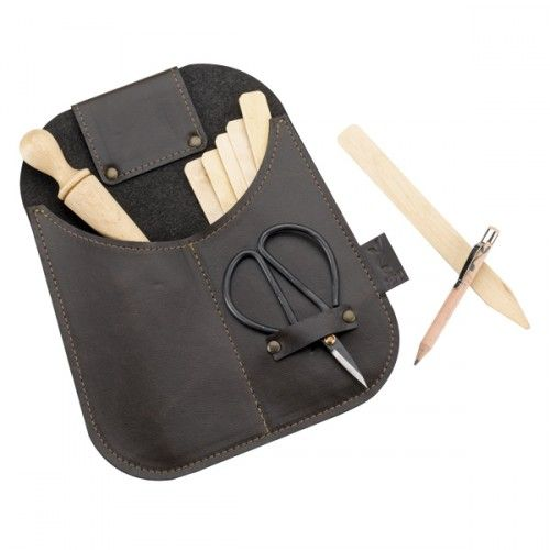 Recycled Leather Work Pouch