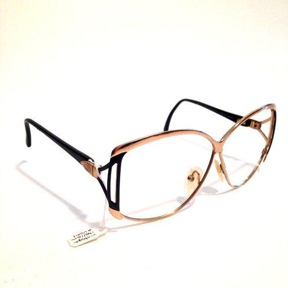 80f46de848 Vintage PAOLO GUCCI Retro Gold OVERSIZED Designer Glasses Frames Grandma  Glasses