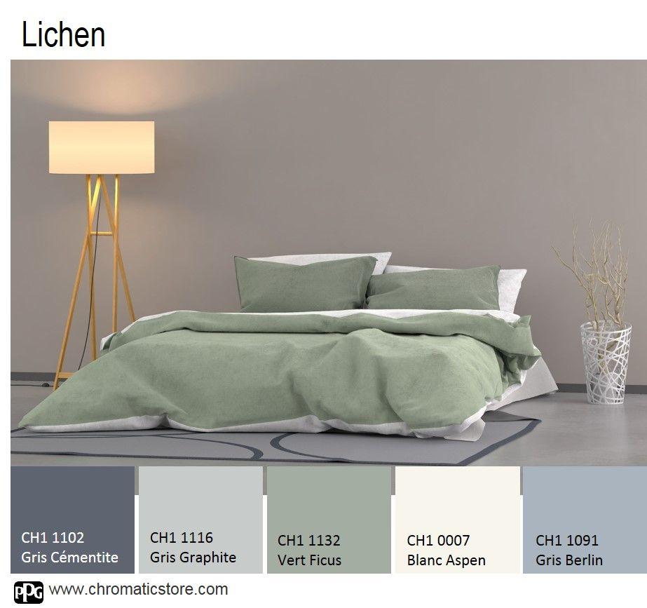 les gris color s associ s au vert ficus r v lent une atmosph re subtile et agr able vivre l. Black Bedroom Furniture Sets. Home Design Ideas