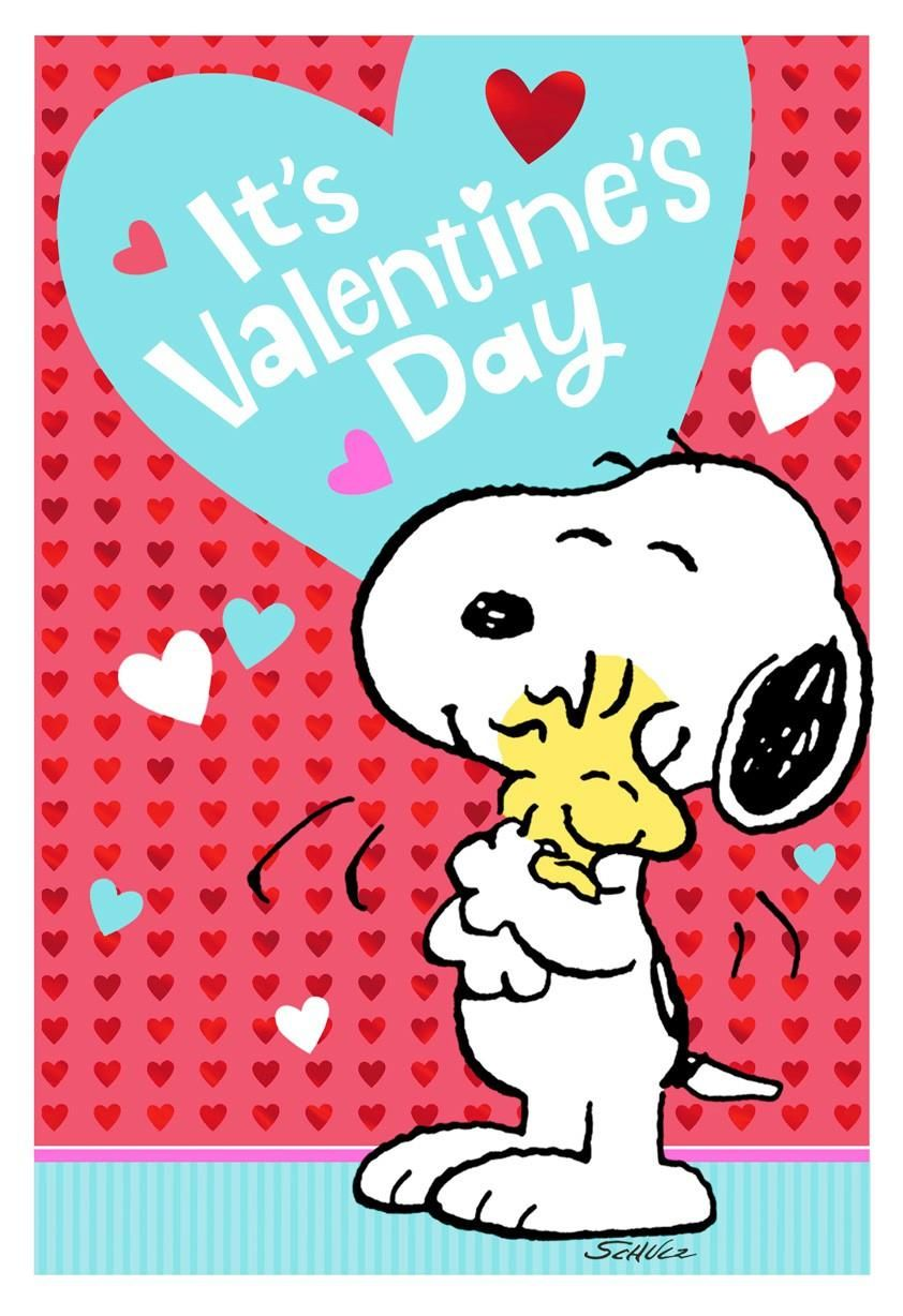 Snoopy & Woodstock - It's Valentine's Day | Snoopy valentine's day, Snoopy  valentine, Valentines wallpaper