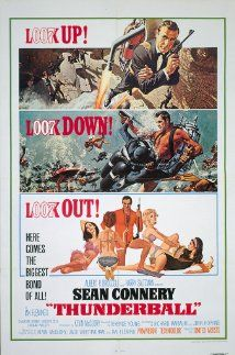 Thunderball (1965) Underwater scenes, fast cars, exotic locations, evil nemesis (es), SPECTRE.  Oh, and don't forget Domino.  John Barry theme with Tom Jones singing.