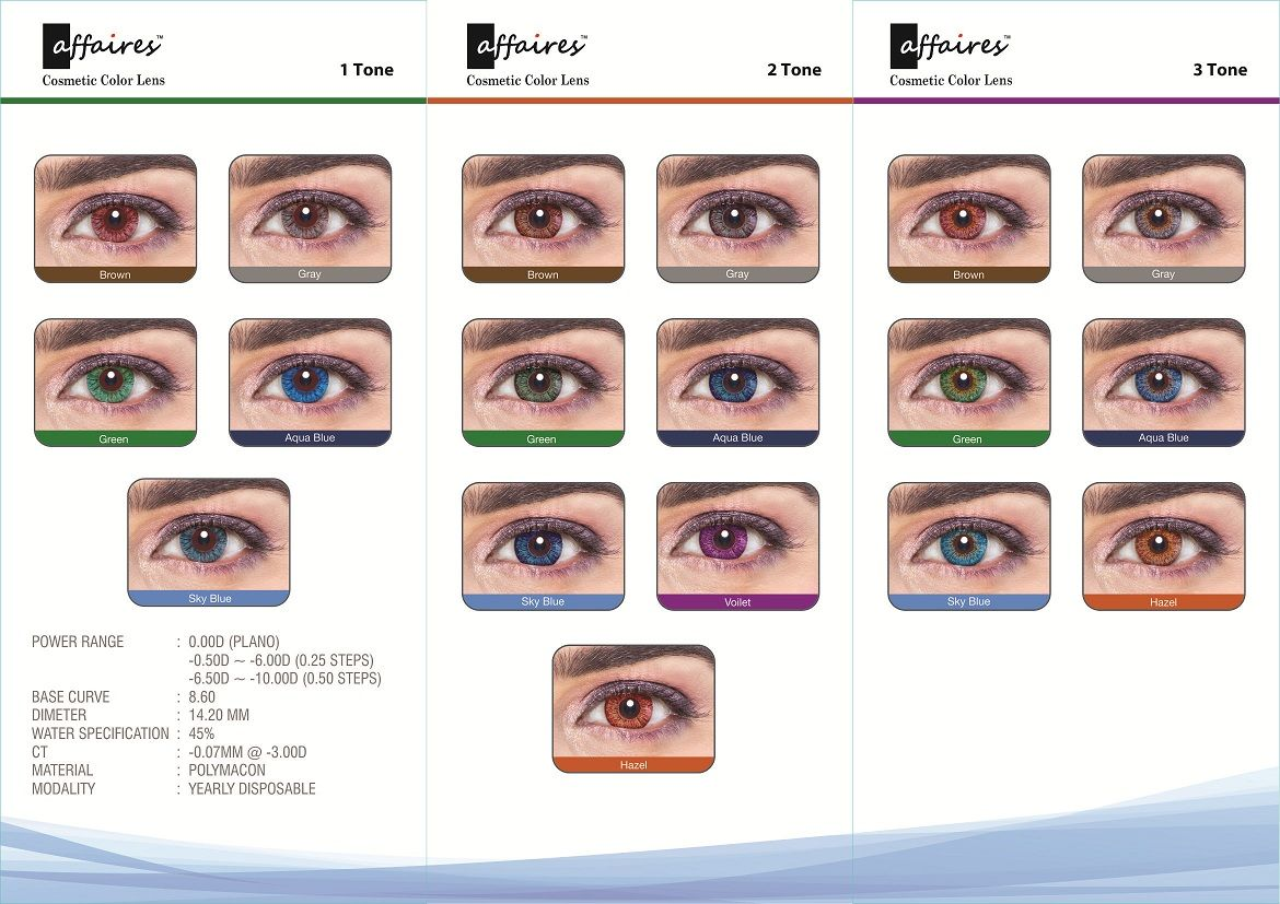 Affaires Color Contact Lenses Chart Contact Lenses Colored Colored Contacts Contact Lenses