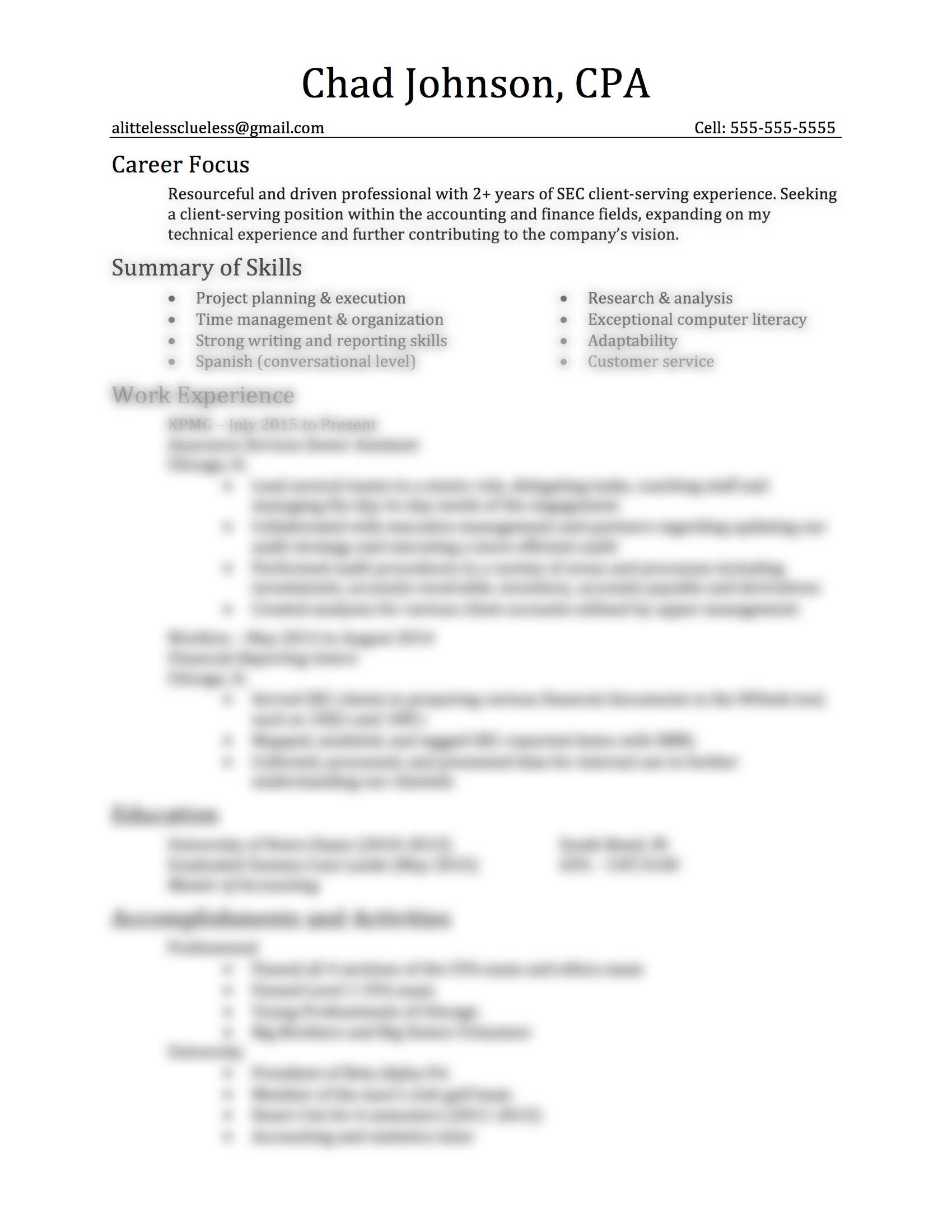 Career Focus For Resume Professional Resume Template  Easy To Use Brought To Youa .