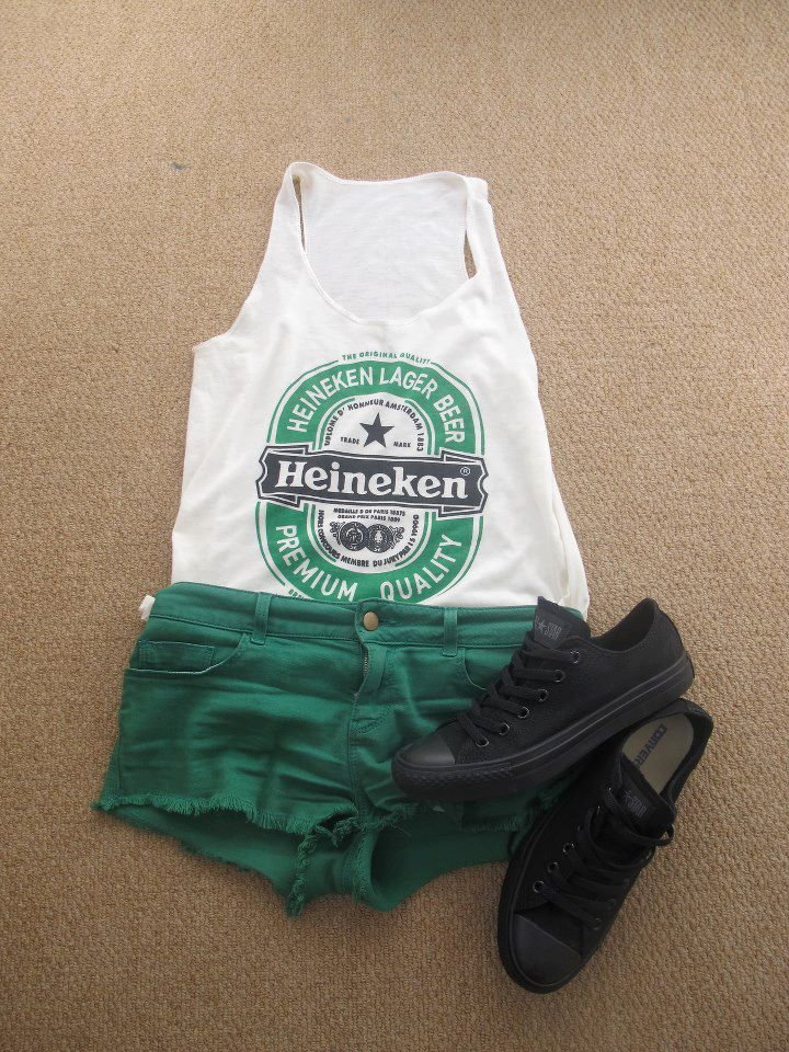 600bd7bf st. pattys outfit..if only i was able to wear shorts now ughh ...