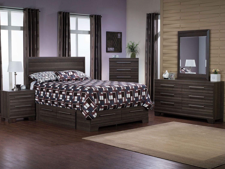 Bedroom furniture olivia 8 piece queen storage bedroom package grey