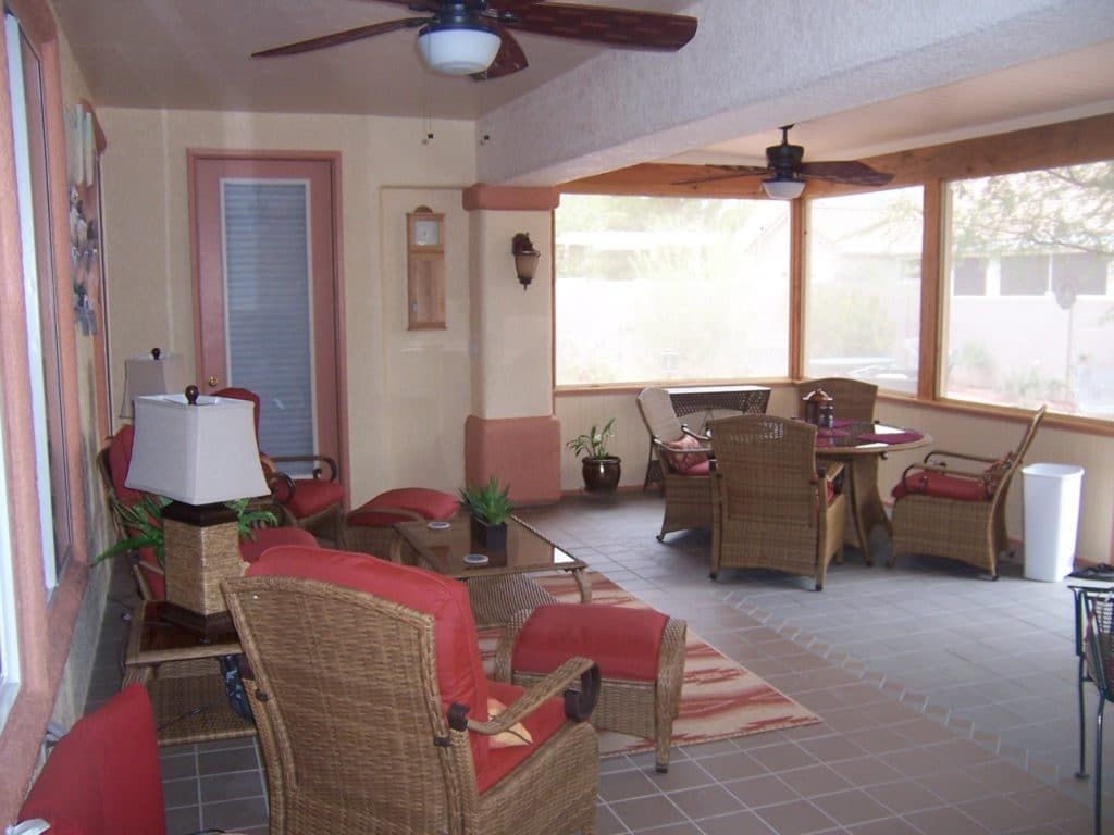 Image result for enclosed arizona rooms tucson projects in
