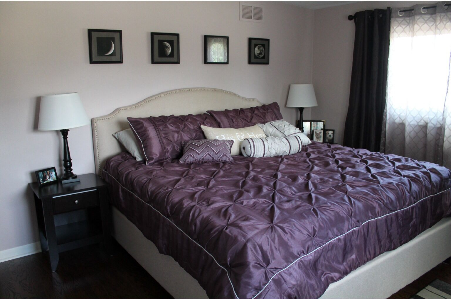 Vaguely Mauve By Sherwin Williams In Bedroom. Eggplant Purple Bedding