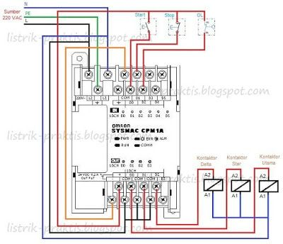control wiring diagram of soft starter wiring plc pengasutan motor star-delta | panel ... control wiring diagram of plc