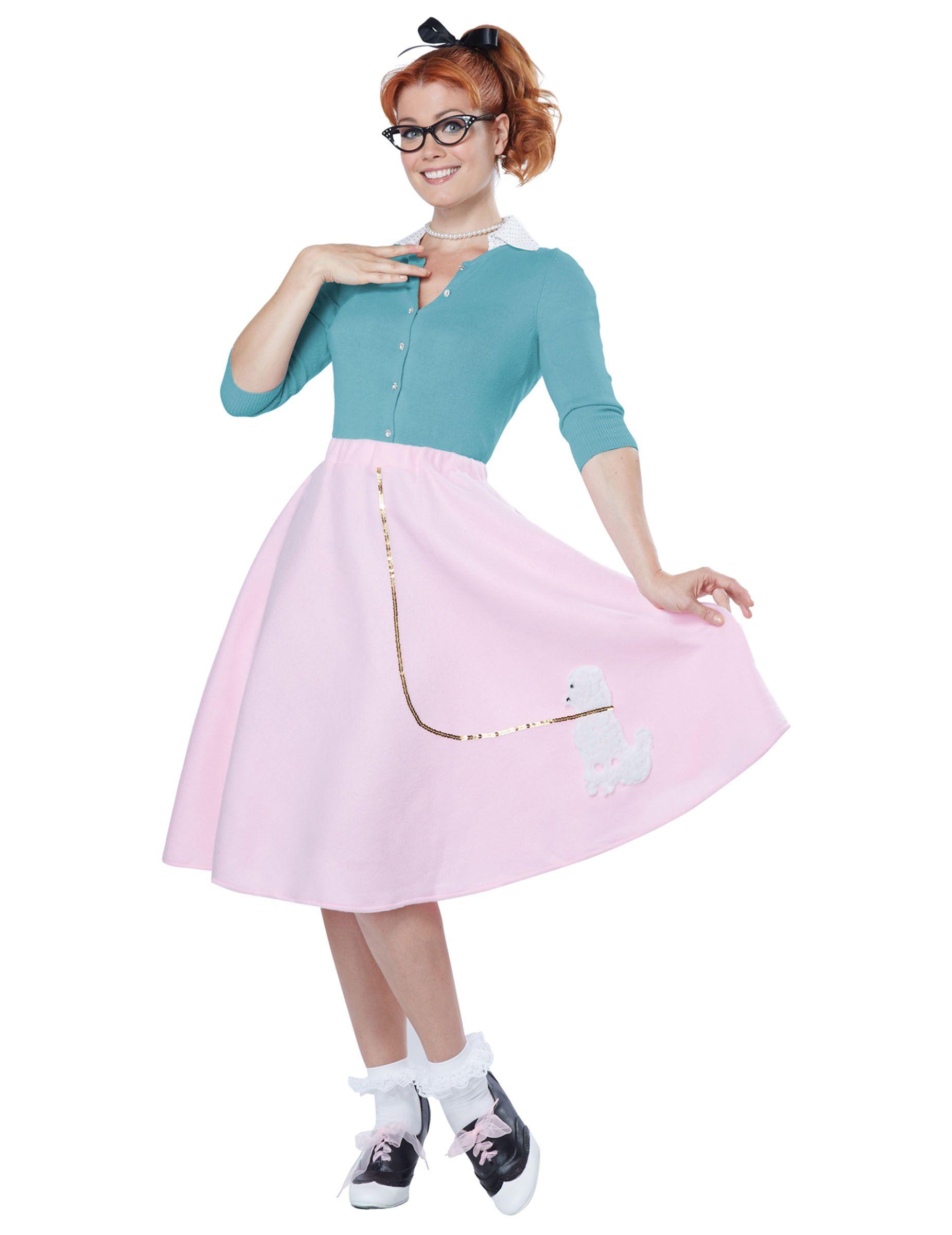 Disfraz años 50 mujer rosa Disfraz años 50, Disfraces