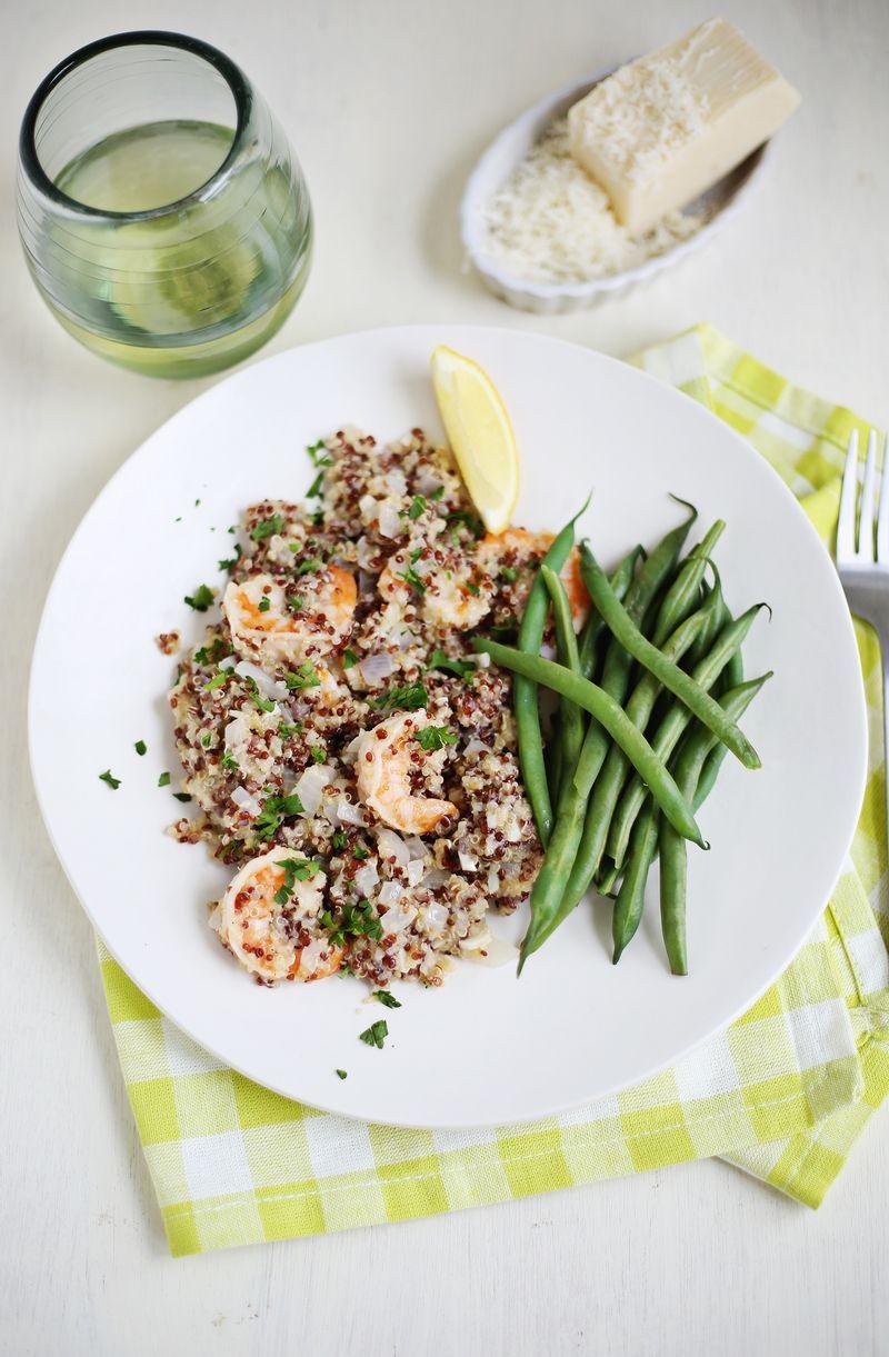 Quinoa Shrimp Scampi