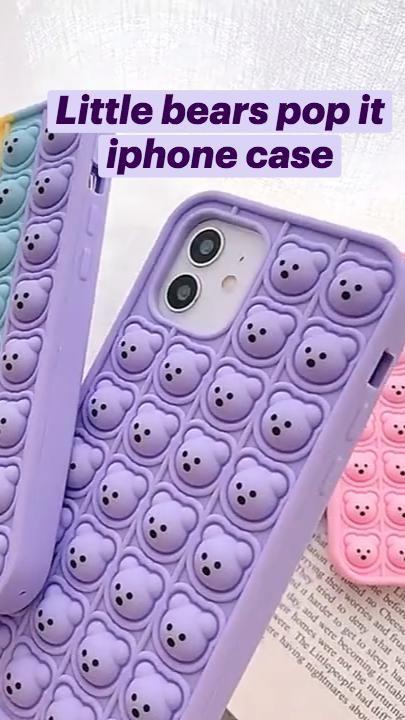 Little bears pop it fidget toy iphone case