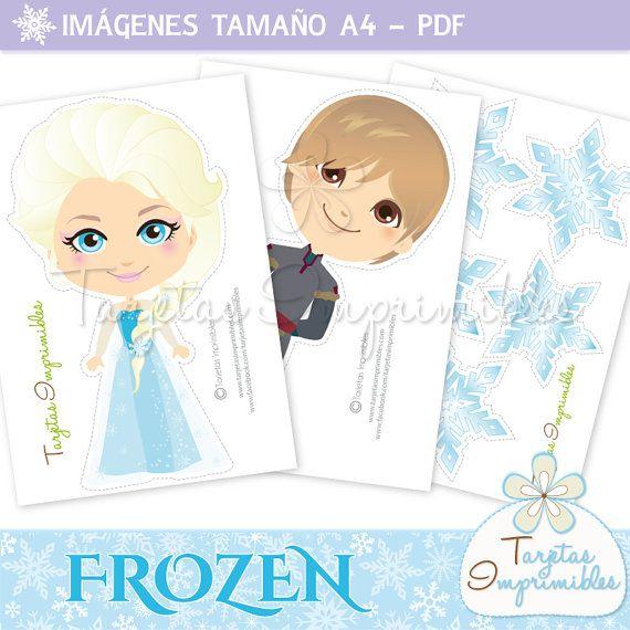 Personajes Frozen para imprimir, Anna, Elsa, Kristoff, Hans y Olaf ...