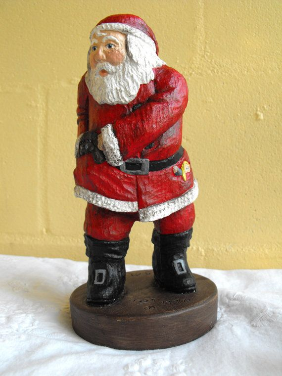 Vintage Collectible Santa Claus Figurine by by DeeSweetNostalgia, $42.99