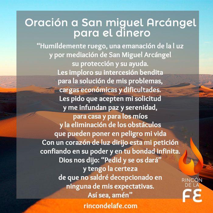Descubre la oración a San Miguel Arcángel para para el dinero y ...