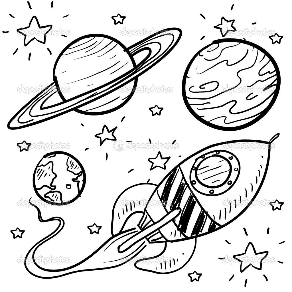 Planet coloring pages planets rocket stars | Outer space | Pinterest