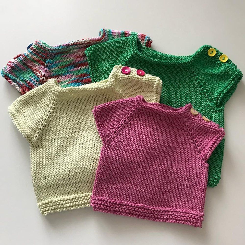 Lena Baby Jumper Knitting pattern by JenStarKnits   Baby