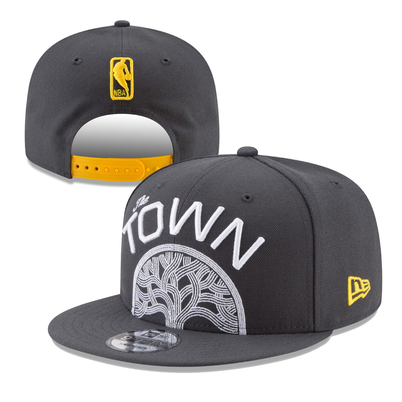 b0790ccd96c Golden State Warriors New Era 'The Town' Split Logo 9FIFTY Snapback - Slate