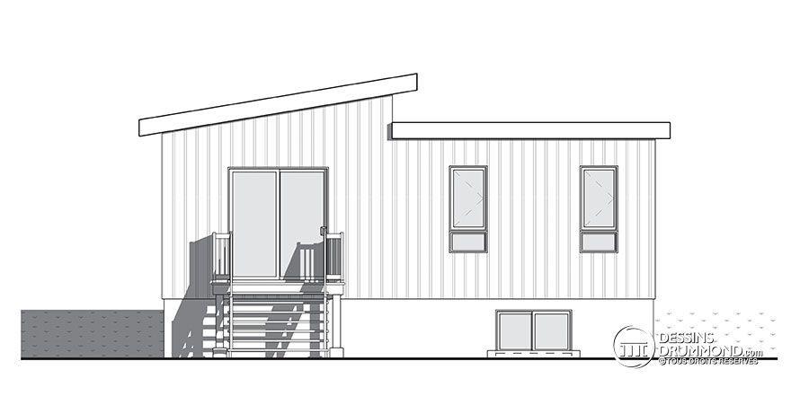 Détail du plan de Maison unifamiliale W3149 Maison 2 Pinterest Zen