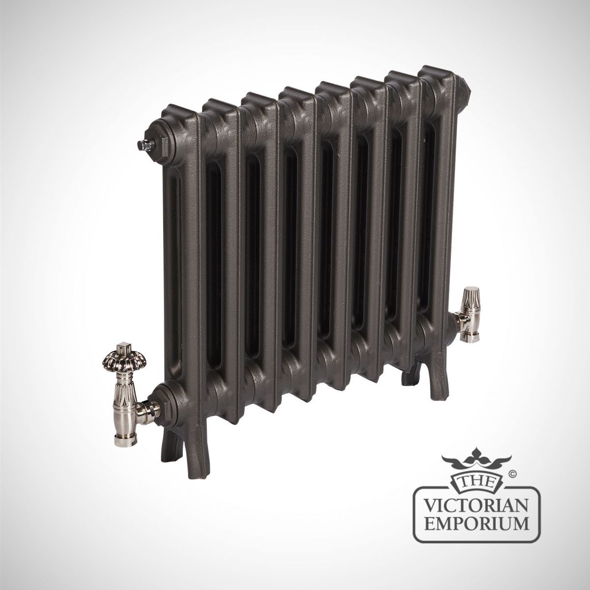 Buy Georgia radiator 2 column 490mm high, Victorian cast iron radiators - Our Georgia 2 column cast iron radiators are a slimline traditional Arts and Crafts design offering a great solution where...