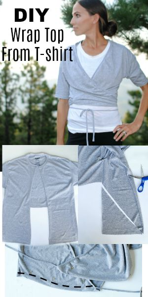 DIY: The Ballet Wrap from T-shirt | DIY Clothing Upcycle ...
