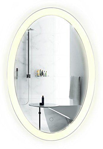 Photo On Mirror Oval LED Bathroom Mirror Inch x