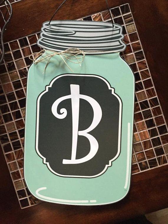Items similar to Mason Jar Door Hangers Fall wreath Fall Home decor Door hanger fall on Etsy & Mason Jar Door Hangers Fall wreath Fall Home by CorbettDesign ...