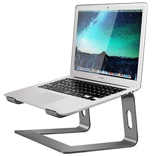 Soundance Aluminum Laptop Stand for Desk Compatible with Mac MacBook Pro Air Apple Notebook, Portable Holder Ergonomic Elevator Metal Riser for 10 to 15.6 inch PC Desktop Computer, LS1 Gray – Best Laptops Store in 2020