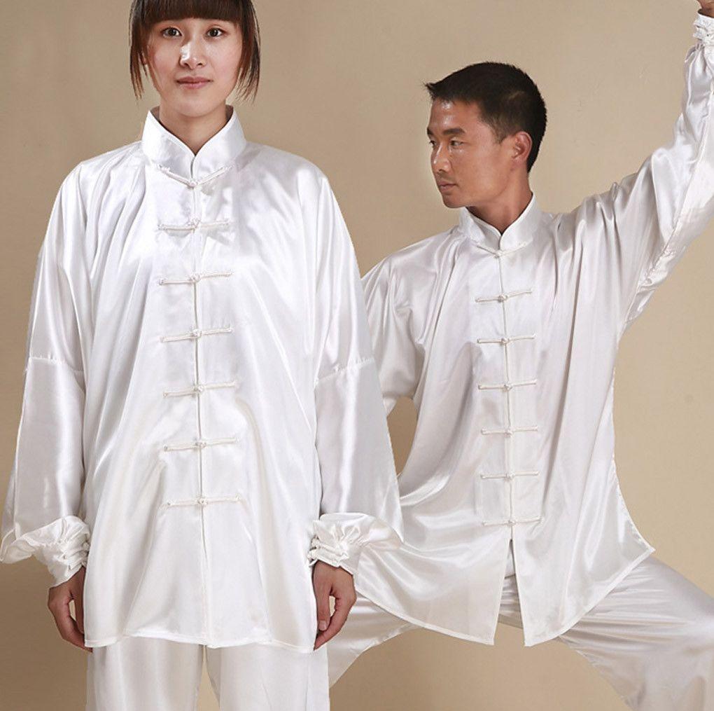 b38f80757 Unisex Satin Silk Tai Chi Clothing • Qigong Uniform   Products   Tai ...