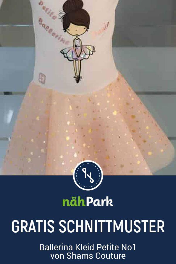 Kostenloses Schnittmuster zum Nähen eines Ballerina Kleids für kleine Mädchen.