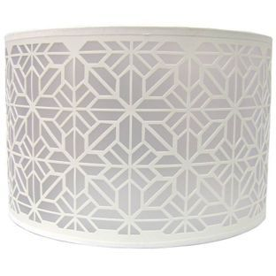 Logan Laser Cut Drum Shade Cream From Homebase Co Uk New House Light Fittings Drum Shade Lamp Shades