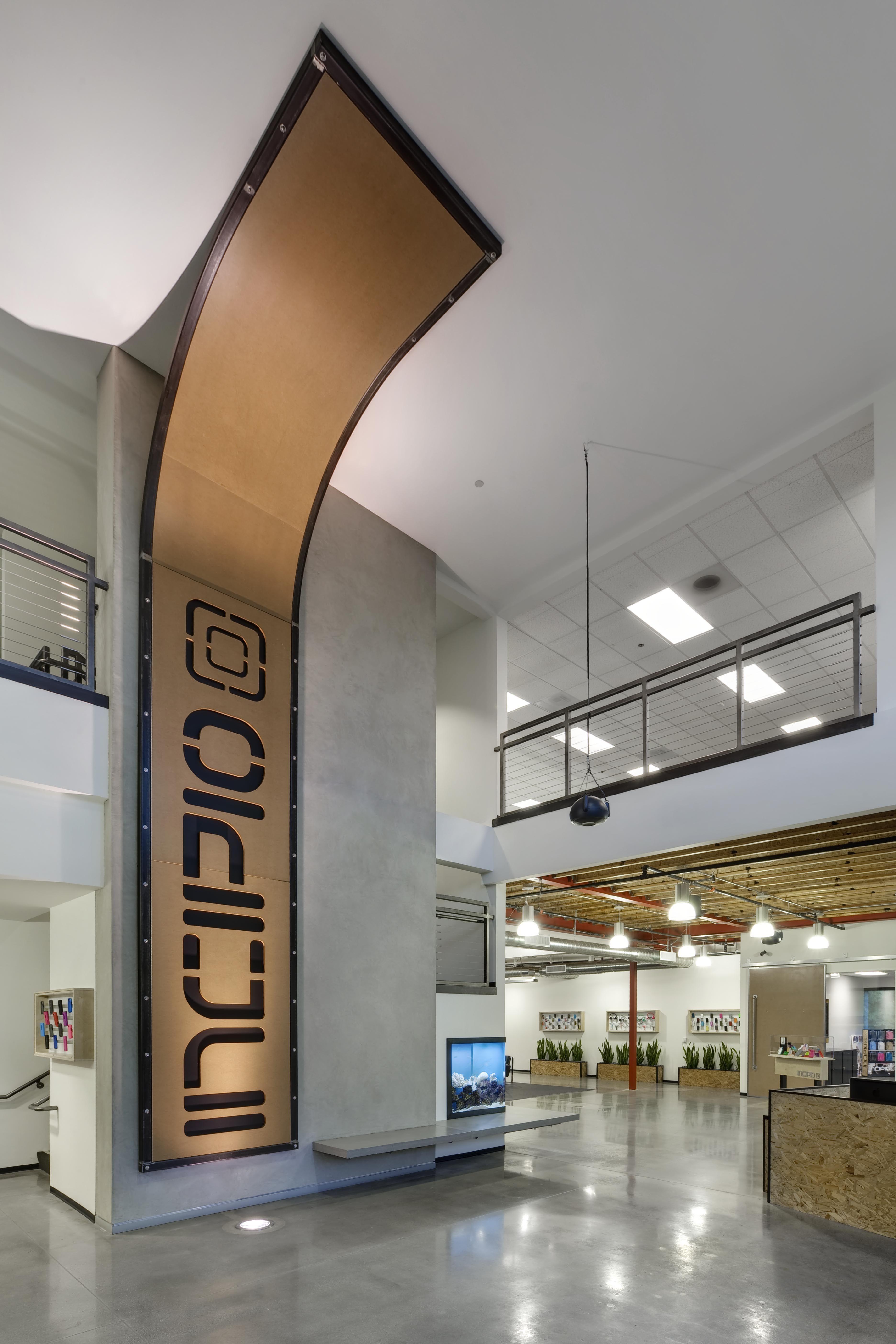 incipio corporate headquarters lobby branded space interior rh pinterest com
