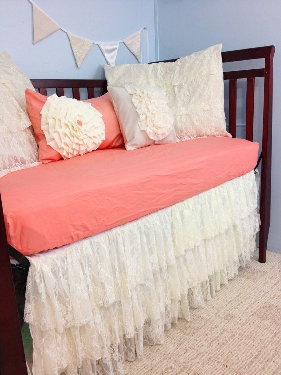 Baby Bedding Crib Bedding Shabby Chic Vintage Lace Baby Bedding