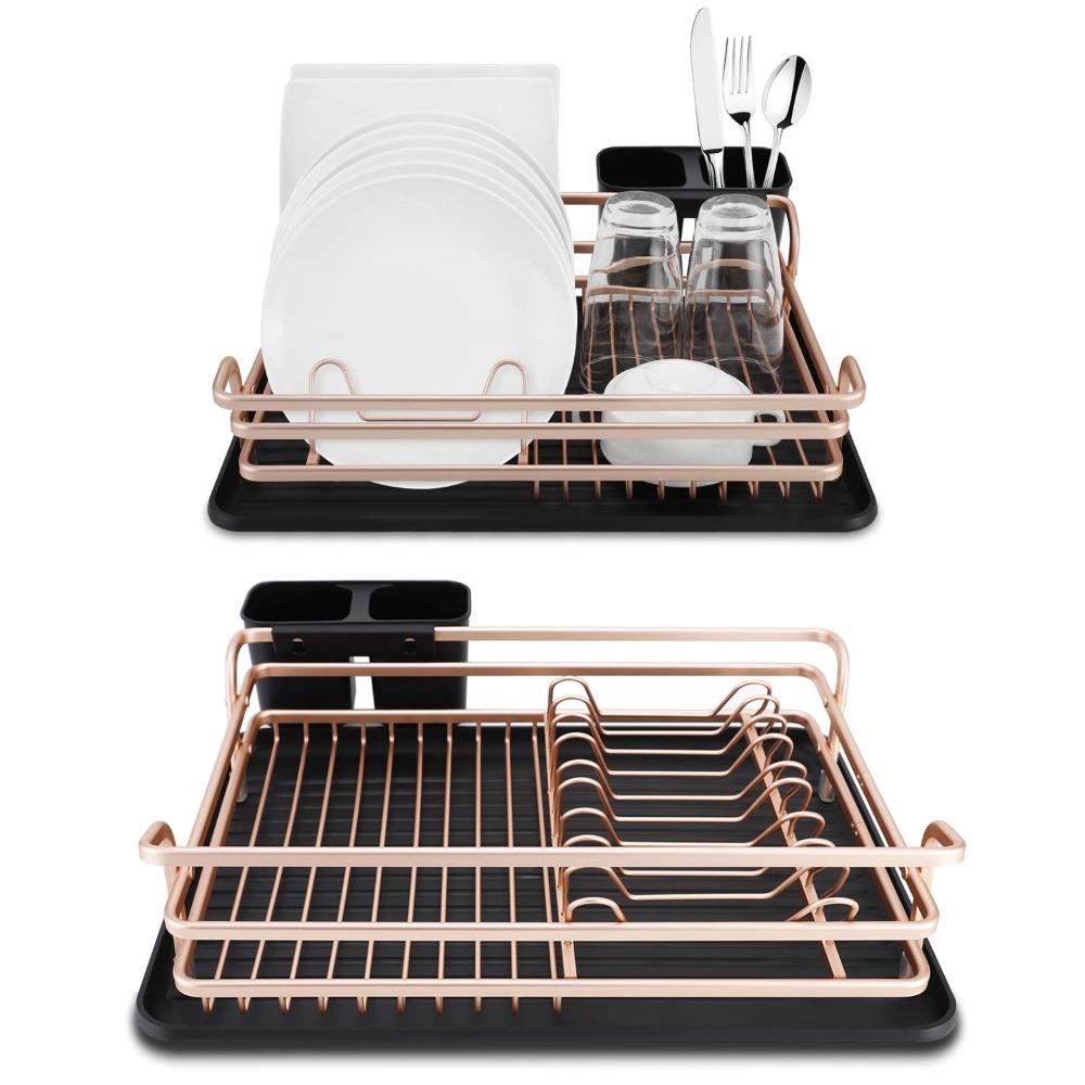 Amazon Com Spening Dish Rack And Drainboard Set Deluxe Aluminum