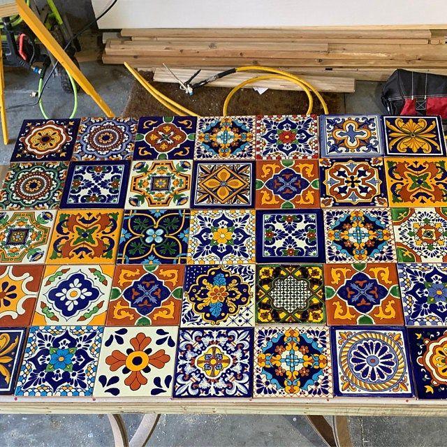 11 piecestalavera tiles 6x6 handmade