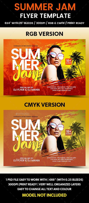 Summer Jam Flyer Template  Summer Jam Flyer Template And Party Flyer