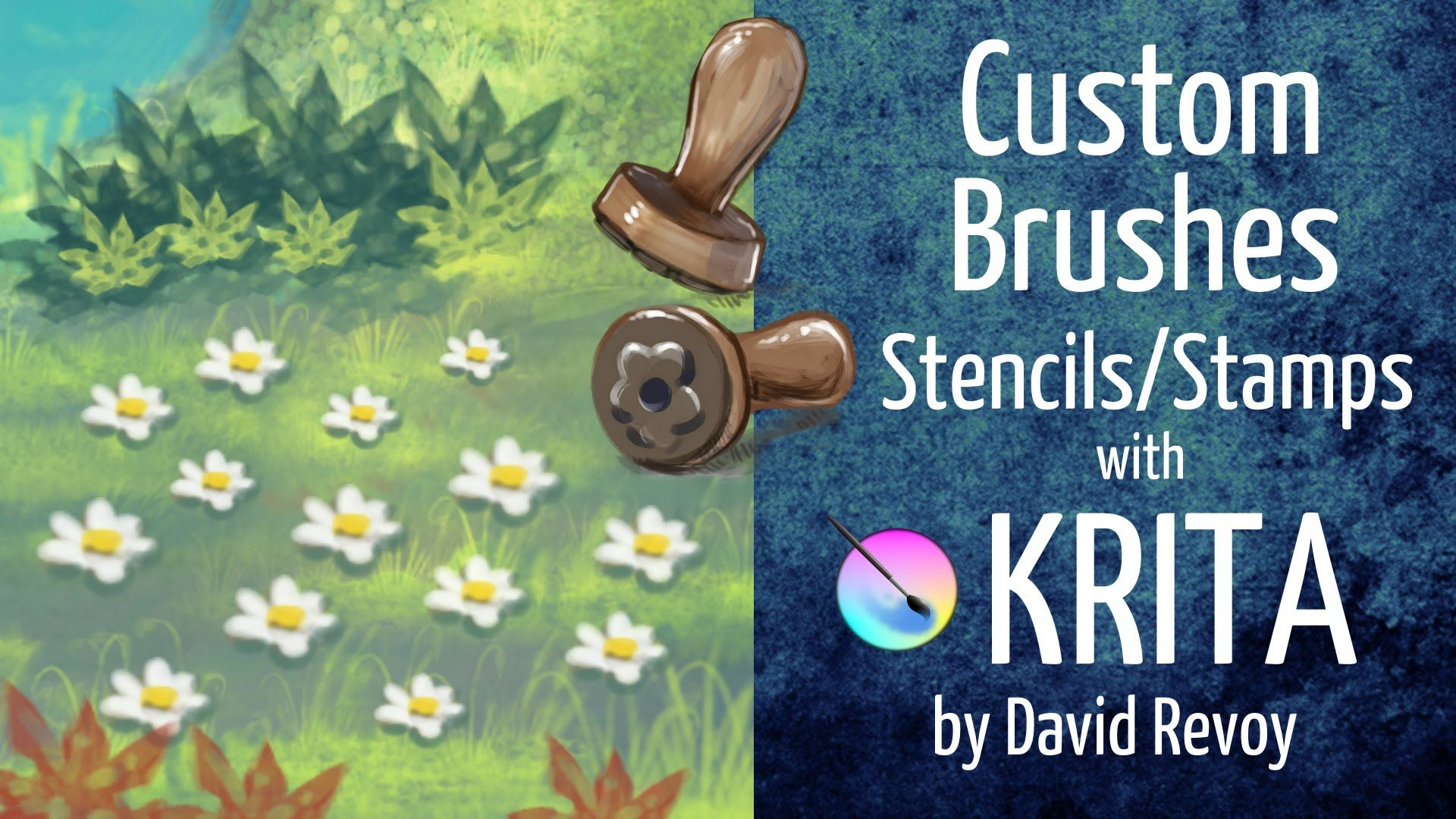 Custom Brushes (Stencil/Stamps) with Krita | Stencils, Stamp