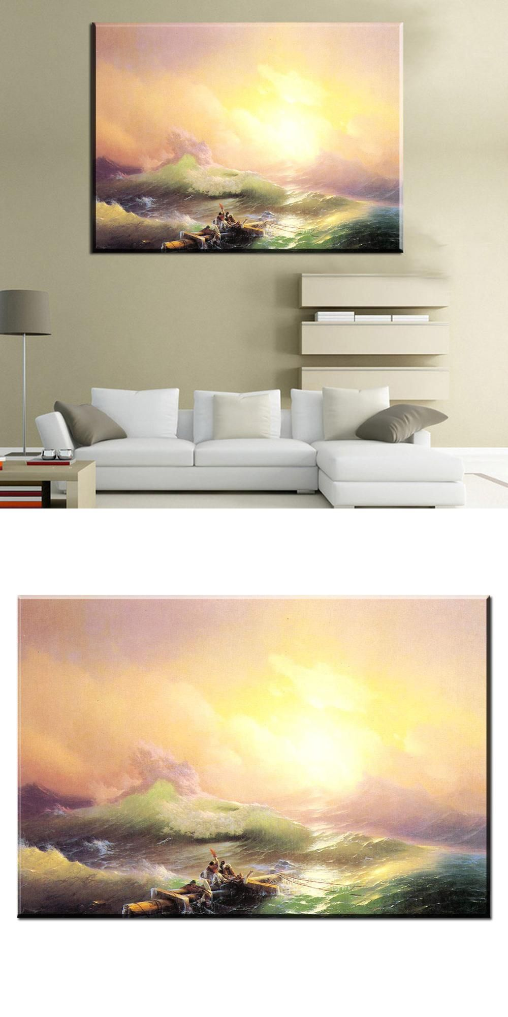 Visit to Buy] xh1145 ivan aivazovsky the ninth wave scenery art ...