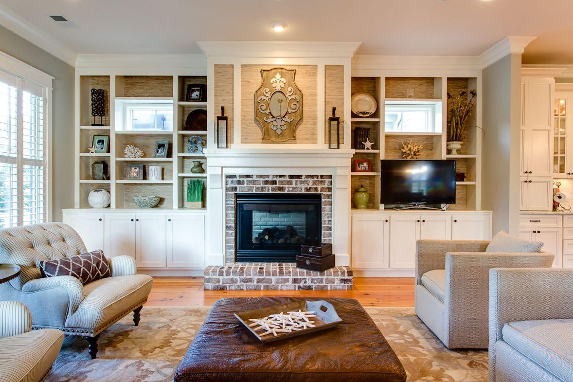 wando view beach house small fireplace bookshelves around rh pinterest com
