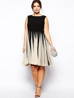 Knielang Abendkleid Große Größen | Kleider für mollige ...