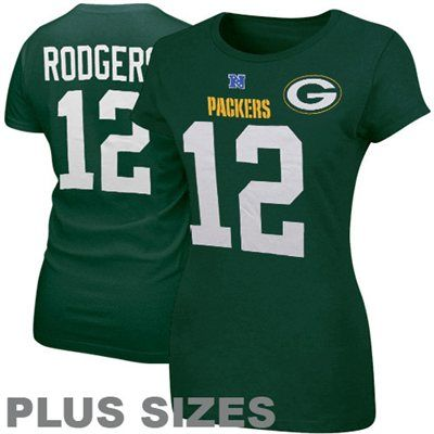 5cca351b6 Aaron Rodgers Green Bay Packers Ladies Her Catch Plus Sizes T-Shirt - Green