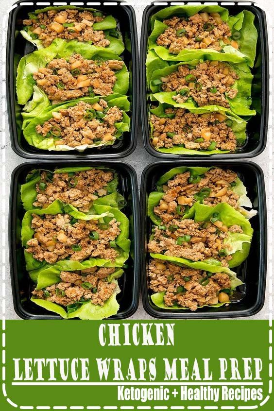 Chicken Lettuce Wraps Meal Prep -   16 fitness Meals chicken ideas