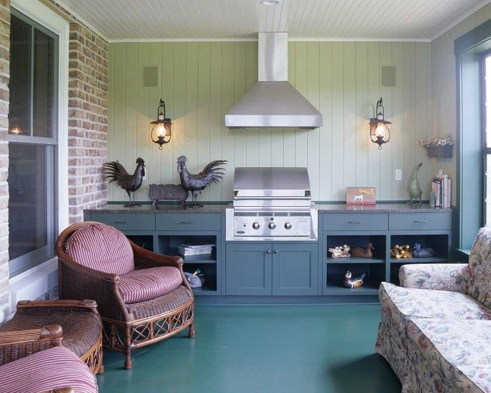 Grill Vent Hood Ideas Porch Traditional With Granite Counter Steel Fire Pit Tables Outdoor Kitchen Grill Patio Kitchen Traditional Fire Pits