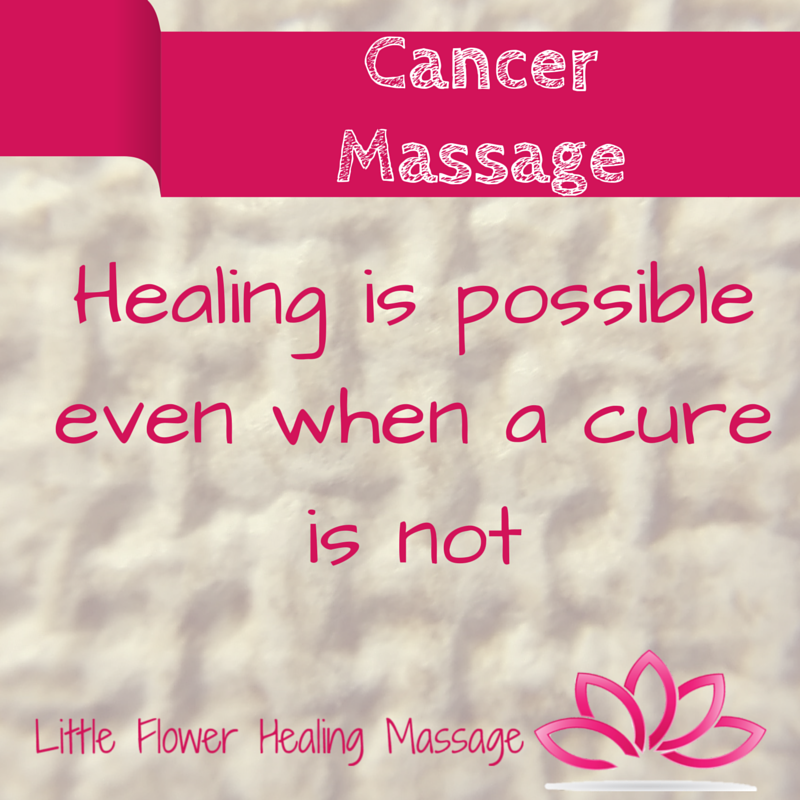 Do You Know Someone With Cancer Who Needs A Massage Cathy Is