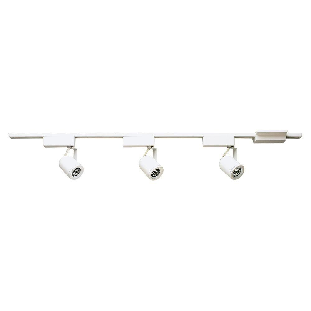 Juno trac lites 4 ft 3 light low voltage white cylinder track 3 light low voltage white cylinder track lighting kit aloadofball Image collections